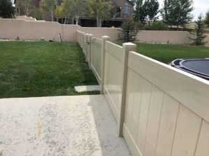 Three foot vinyl privacy fencing