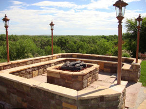 Front Range Fencing & Deck fire pit and outdoor kitchen information