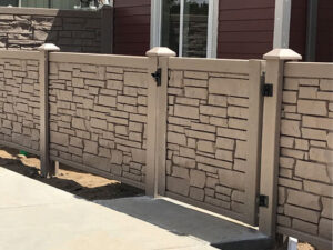 Brown Certainteed Allegheny fence and walk gate